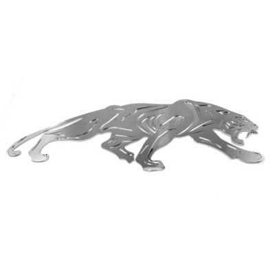 Panther Emblem Mirrored Back Metal Wall Art