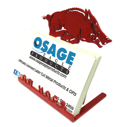 Arkansas Razorbacks Red Business Card Holder