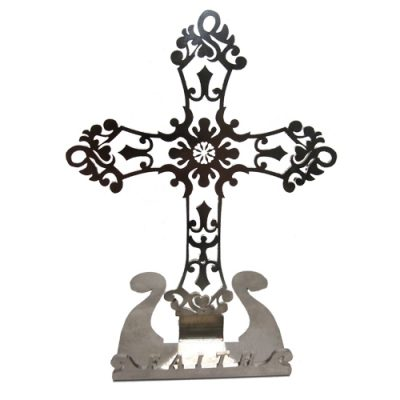 Angel Cross Stainless Steel Phone Stand Holder